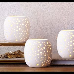West Elm Porcelain Tealights/Votives- 12 Available